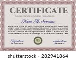 diploma template or certificate ... | Shutterstock .eps vector #282941864