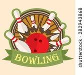 bowling sport  logo  sign ...   Shutterstock .eps vector #282943868