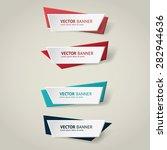 vector infographic origami... | Shutterstock .eps vector #282944636