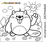 Cute Beaver Character Coloring...