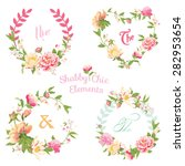 flower banners and tags   for... | Shutterstock .eps vector #282953654
