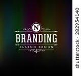 calligraphic label design... | Shutterstock .eps vector #282954140