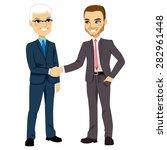 two businessmen  one senior and ... | Shutterstock .eps vector #282961448