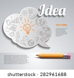 creative splash  template with... | Shutterstock .eps vector #282961688