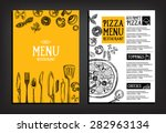 Cafe menu restaurant brochure. Food design template. | Shutterstock vector #282963134