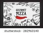 cafe menu restaurant brochure.... | Shutterstock .eps vector #282963140