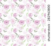 floral seamless pattern  vector ... | Shutterstock .eps vector #282963800