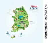 infographic travel and landmark ... | Shutterstock .eps vector #282965573