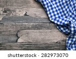 checkered fabric blue | Shutterstock . vector #282973070