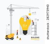 infographic business light bulb ... | Shutterstock .eps vector #282973940
