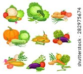 collection of flat fresh... | Shutterstock .eps vector #282975674