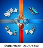 infographic template for modern ... | Shutterstock . vector #282976550
