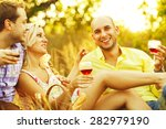 summer weekend concept.... | Shutterstock . vector #282979190
