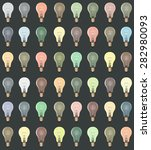 colorful lightbulbs pattern... | Shutterstock .eps vector #282980093