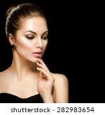 beauty woman face closeup... | Shutterstock . vector #282983654