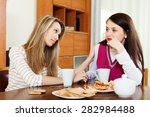 crying woman has problem  other ... | Shutterstock . vector #282984488