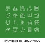 thin lines icons set of finance ... | Shutterstock .eps vector #282990008
