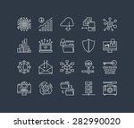 thin lines icons set of big... | Shutterstock .eps vector #282990020