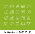 thin lines icons set of... | Shutterstock .eps vector #282990149