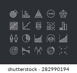 thin lines icons set of... | Shutterstock .eps vector #282990194