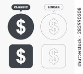 dollars sign icon. usd currency ... | Shutterstock .eps vector #282990308
