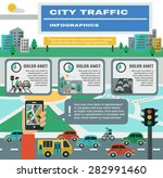city traffic infographics set... | Shutterstock .eps vector #282991460