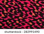pink and orange leopard pattern.... | Shutterstock . vector #282991490