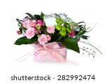 flowers in box isolated on white | Shutterstock . vector #282992474