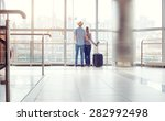 traveling concept. back view of ... | Shutterstock . vector #282992498