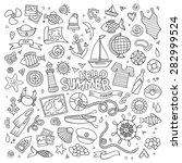 marine nautical hand drawn... | Shutterstock .eps vector #282999524