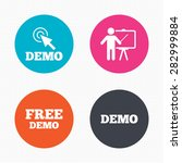 circle buttons. demo with... | Shutterstock .eps vector #282999884