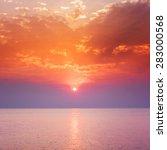 sunset sky above sea  sunrise... | Shutterstock . vector #283000568