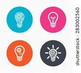 circle buttons. light lamp...   Shutterstock .eps vector #283002560