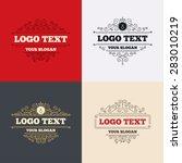 royal flourishes calligraphic....   Shutterstock .eps vector #283010219