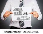 close up of a business man... | Shutterstock . vector #283010756