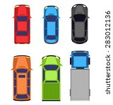 multicolored car collection... | Shutterstock .eps vector #283012136