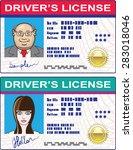 driver's license vector file... | Shutterstock .eps vector #283018046