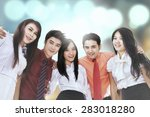 group of business team smiling... | Shutterstock . vector #283018280