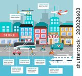 transportation infographic with ... | Shutterstock .eps vector #283028603