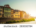 pisa city  italy. view of old... | Shutterstock . vector #283030784