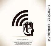 letter g  icon  | Shutterstock .eps vector #283036343