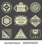 vector set of vintage labels.... | Shutterstock .eps vector #283044020