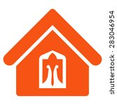home icon from business bicolor ... | Shutterstock .eps vector #283046954