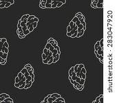 brain doodle seamless pattern...   Shutterstock .eps vector #283047920