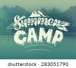 summer typography design on... | Shutterstock .eps vector #283051790