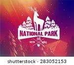 national park typography design ... | Shutterstock .eps vector #283052153