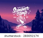 Summer Camp Typography Design...