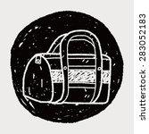 doodle travel bags | Shutterstock .eps vector #283052183
