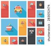 traveling flat ui background | Shutterstock . vector #283052474