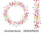 detailed contour wreath with... | Shutterstock .eps vector #283069820